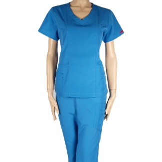 13412 - V-neck with multiple pockets and badge holder scrub set
