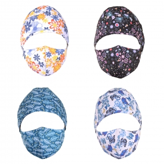 Reina Printed Scrub Cap and Mask Combo