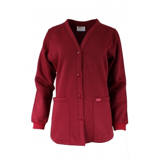 JFV40 - V-neck Button Cotton Fleece Sweater Cardigan